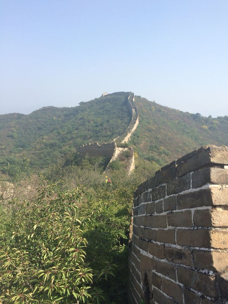 Slight overgrown Great Wall Of China.