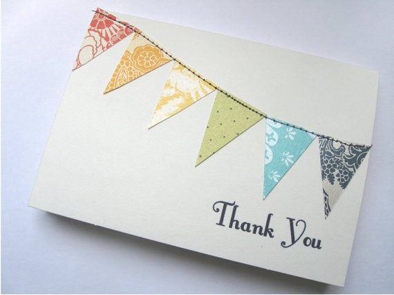 bunting thank you...from etsy