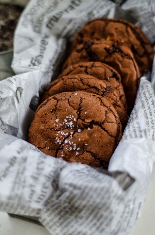 Louise´s Spis: Salted Caramel and Nutella Chocolate Chip Cookies