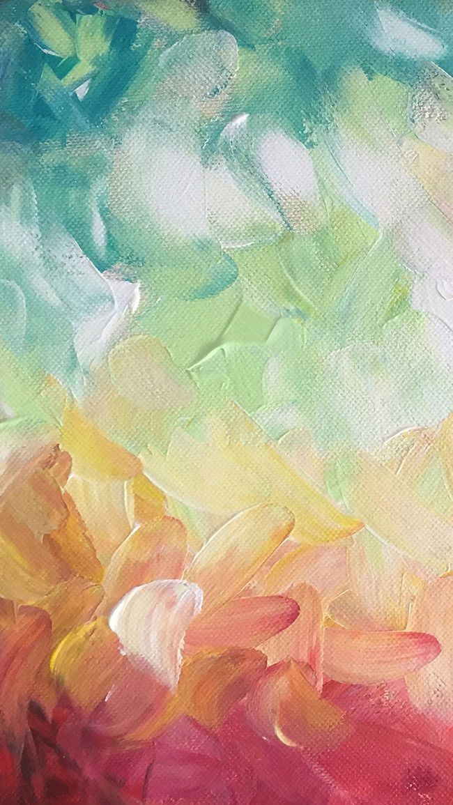 Green Watercolor Brush Strokes H5 Background