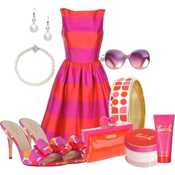 Pink and Orange with Kate Spade by court8434 on Polyvore