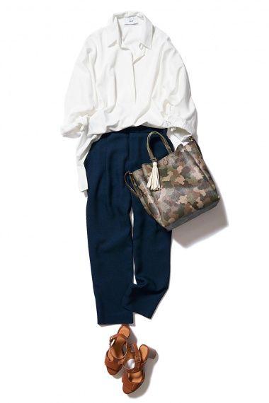 ベーシックな白シャツは、オーバーサイズにアップデート! ― B-ファッションコーディネート通販|ビストロ フラワーズ トウキョウ