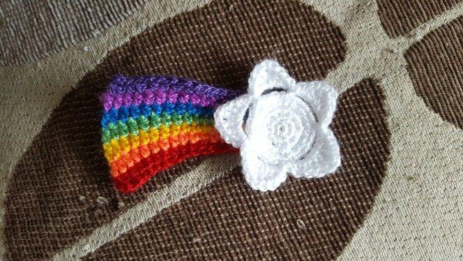 Estrella arcoiris crochet