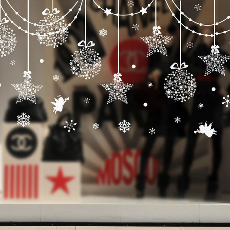 Best 25+ Christmas window stickers ideas on Pinterest ...