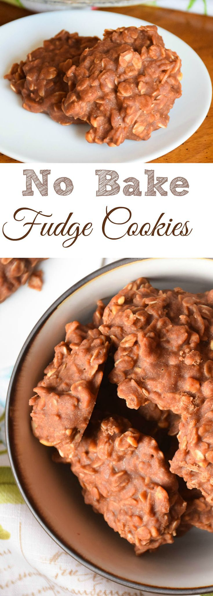 No Bake Fudge Cookies are like your favorite piece of chocolate fudge with coconut and oatmeal stirred in! A favorite that is easy to make with practice!