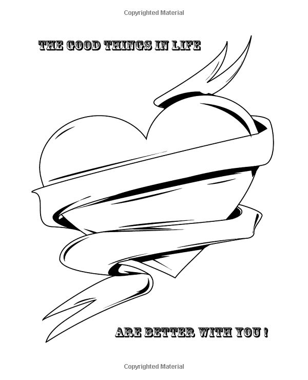 amazoncom valentines day coloring book be my valentine quotes and fun pages for couples of all ages color in and create your art with quotes and sweet - Pictures Of Books To Color