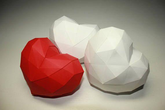Heart Papercraft 3d DIY