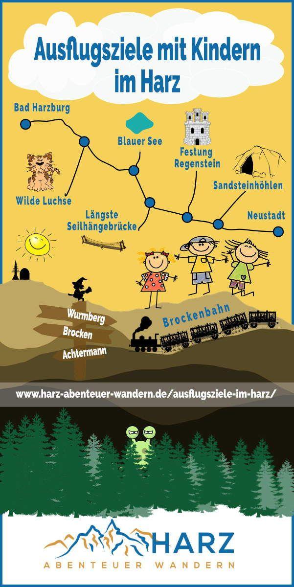 Ausflugsziele mit Kindern im Harz #Harz #Urlaubmit…