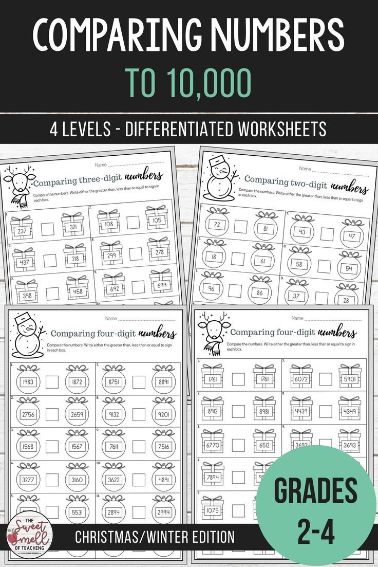 Pin On Third Grade Teaching Ideas Comparing digit numbers worksheets