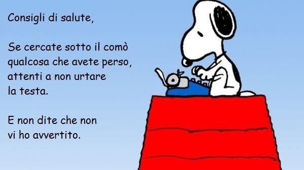 Consigli Di Salute Snoopy Italiano Pinterest Woodstock And Snoopy