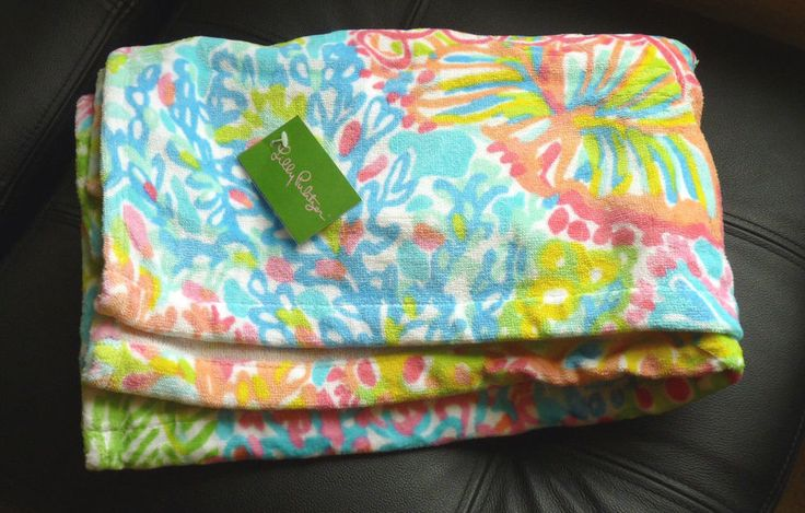 LILLY PULITZER Multi Lovers Coral Extra Large BEACH TOWEL NWT #LillyPulitzer