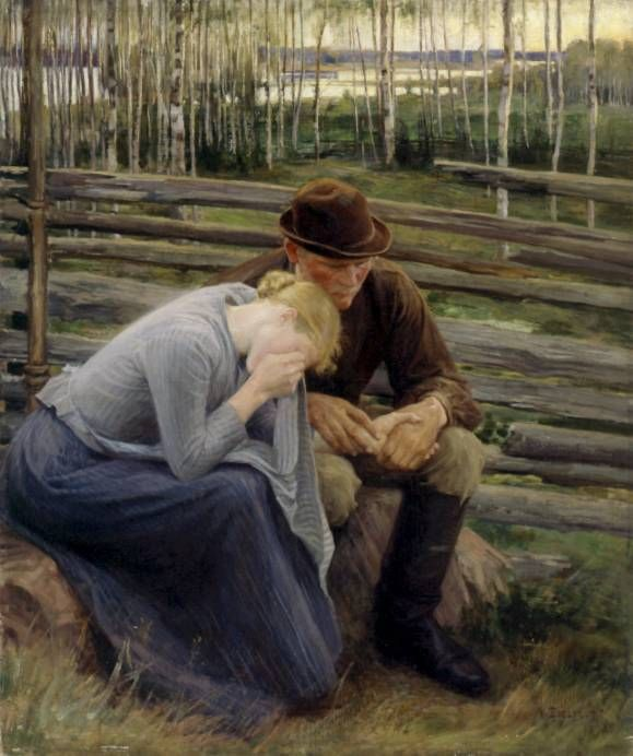 Grief, 1894 - Albert Edelfelt - Finnish Swedish painter and graphic artist.