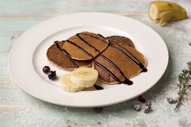 #love #pancakes #pancake #chocolate #banana #hungry #good #slurp