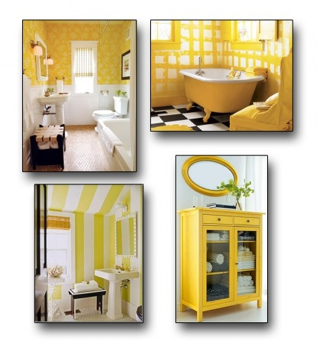 197 best images about gray yellow bathroom ideas on for Purple and yellow bathroom ideas