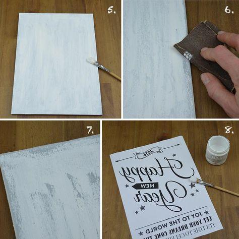 Hübsche Vintage-Schilder aus Holz zum Dekorieren oder Verschenken einfach selber machen. Hier geht's zur Schritt-für-Schritt-Anleitung mit Vorlage.