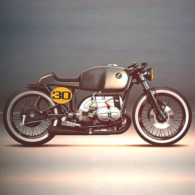 BMW Cafe Racer | Brat Rod | Rendition | H Hammer - Combustible Contraptions
