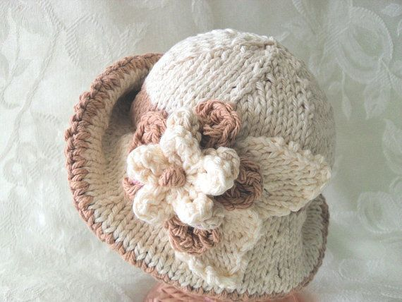 Loom Knit Baby Hat With Brim : Baby hat knitting knitted hats knit bonnet with