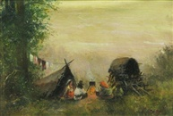 The Gypsy Camp by George Catargi