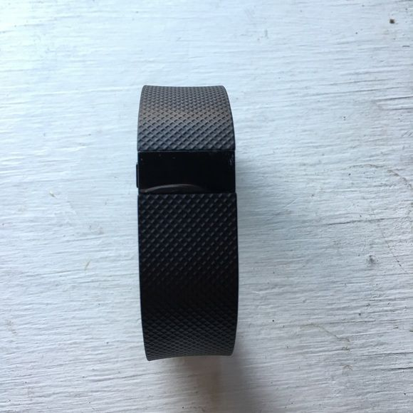 Small FitBit Charge HR The button doesn't work but the tap function on the bracelet is fully functional. Little scratch shown in last picture. Monitors sleep and exercise as well as steps, heart rate, stairs climbed. NOT waterproof. Each charge lasts about 4 days. Charger not shown but will come with bracelet. Will trade for Fitbit charge. Fitbit Accessories