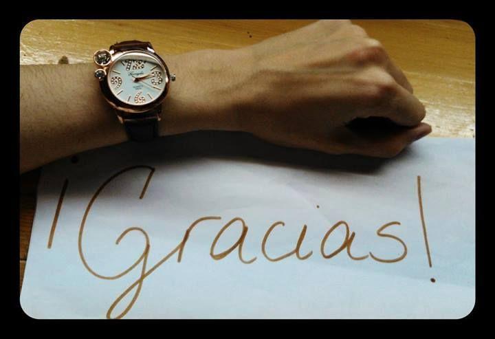 Gracias a Marta ganadora del sorteo en colaboración con Whatthechic por compartir con nosotros una foto de su nuevo reloj :D