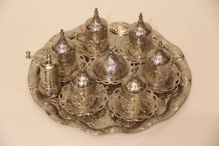 Handmade  BrassTurkish coffe  Cups by www.tribalarthome.com