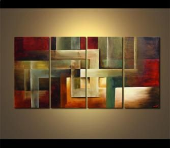 Decorative paintings of landscape, abstract, seascape and cityscape art by Osnat Tzadok. View more at www.OsnatFineArt.com