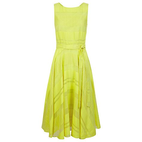 Buy Hobbs May Dress, Bright Lemon Online at johnlewis.com
