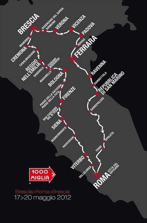 Mille Miglia 2012 Route