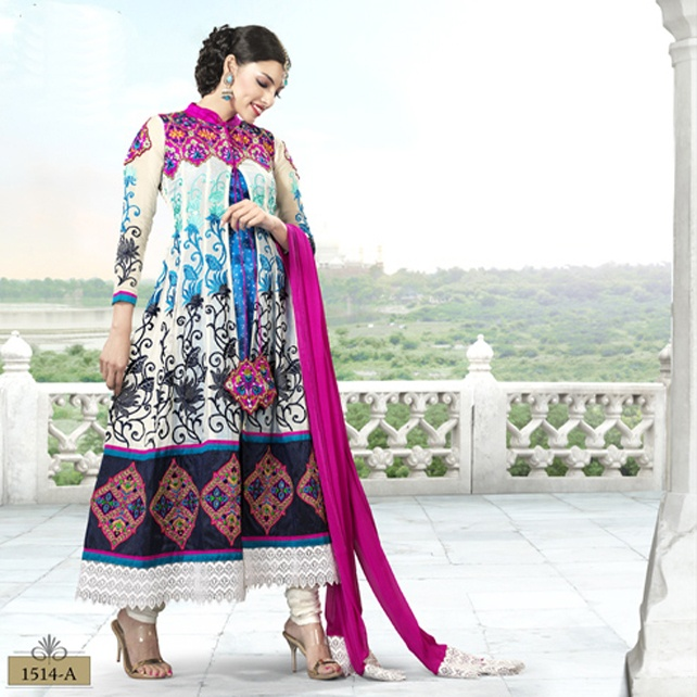 Buy online Salwar Suit Designs Latest, Designer Salwar Kameez, Bollywood Salwar Suit, Latest Salwar Suit, Shop online latest exclusive salwar suit collection at http://jugniji.com/latest-trend/7th-wonder-tajmahal-suits/taj-suits-1915.html