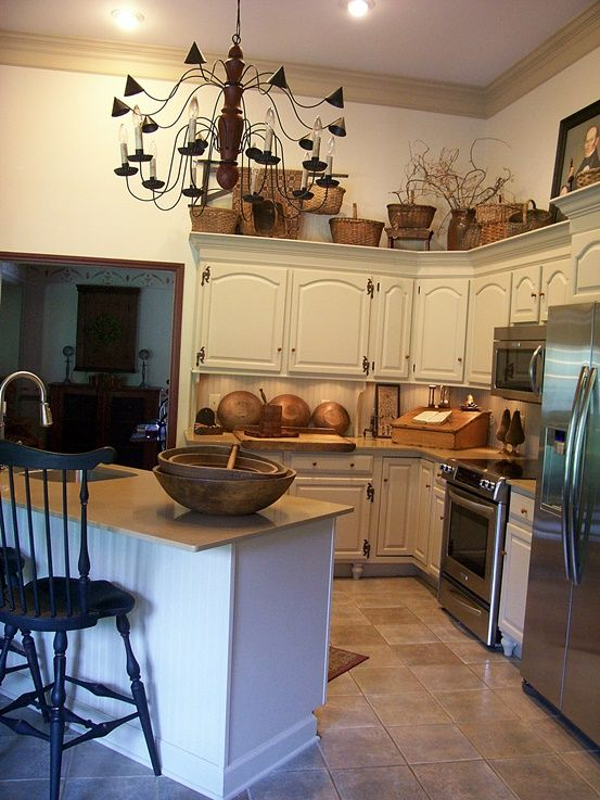 Colonial Kitchen Color Ideas With Dark Cabinets Best 25+ Primitive Kitchen Cabinets Ideas On Pinterest