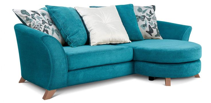 Right hand facing 4 seater pillow back lounger sofa for for Perez 4 seater pillow back sectional sofa