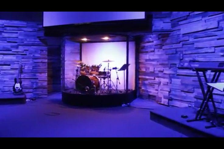 DIY curved drum enclosure built using an aluminum frame ...