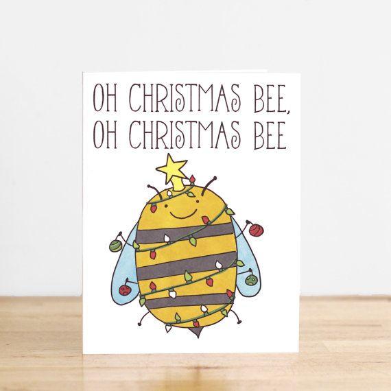 Ach Weihnachten Bee. XMas. Weihnachtsbaum. Wortspi…