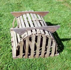 Half-Round Lobster Trap with supports for coffee table