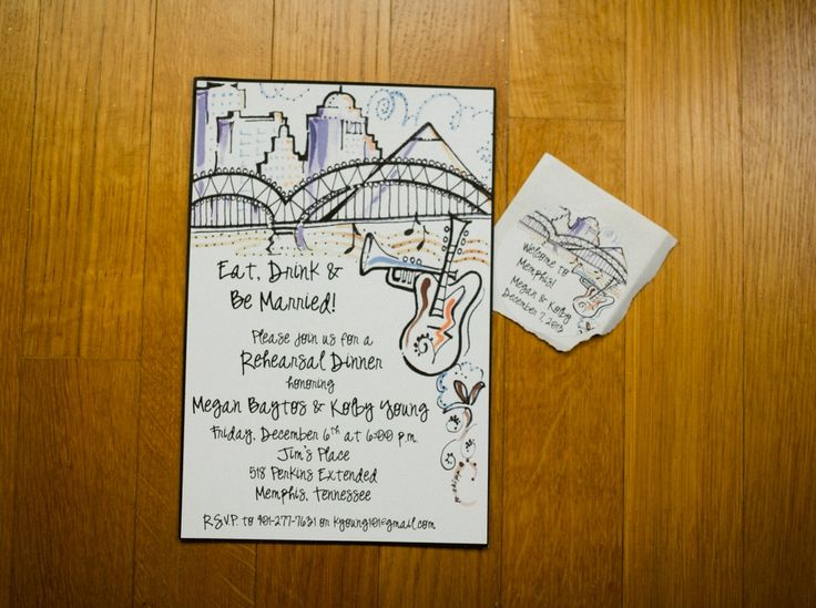 Wedding Invitations Memphis Tn: Memphis Themed Wedding Invitation