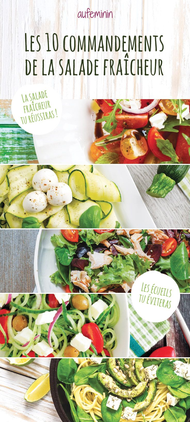 Les meilleures astuces cuisine puor composer une belle salade d'été ! De quoi réaliser des recettes de salades fraiches délicieuses