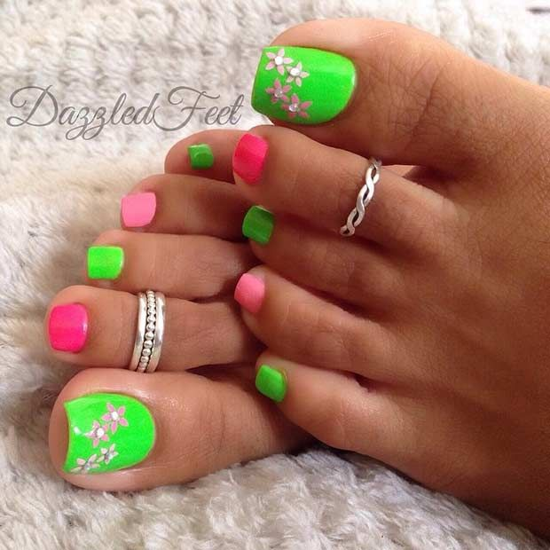 31 Easy Pedicure Designs for Spring - Best 25+ Green Toe Nails Ideas On Pinterest Mint Toe Nails