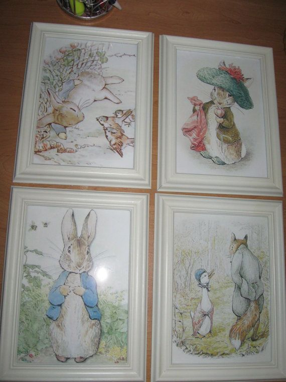 Peter rabbit and friends by beatrix potter prints only 4 for Beatrix potter bedroom ideas