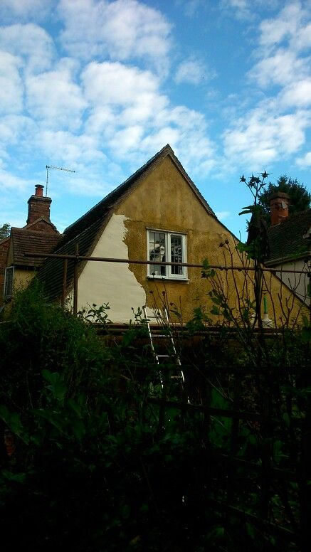 Plastering the gable end