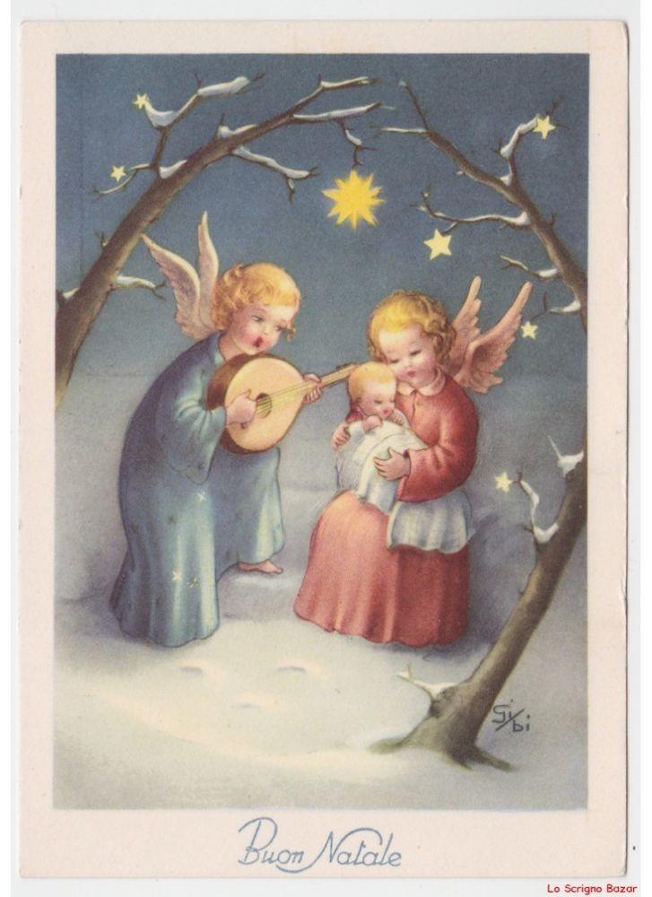 The child looks out the window on christmas. Non Viaggiata Gi Bi Natale Cartolina Religiosa Vintage Angeli Liuto Gesu Bambino Angeli Di Natale Biglietti Di Natale Vintage Natale