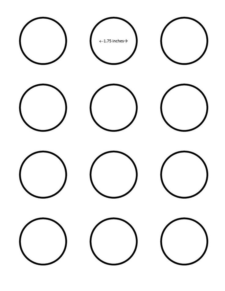 1 inch circle template free - macaron inch circle template google search i saved