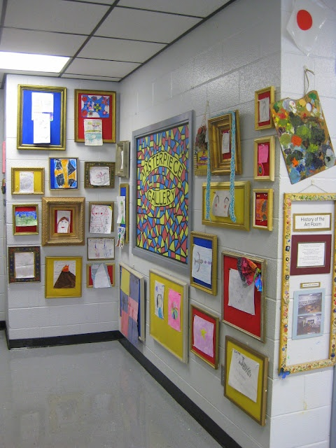 Classroom Art Decor ~ Art room picture frames diy my pinterest