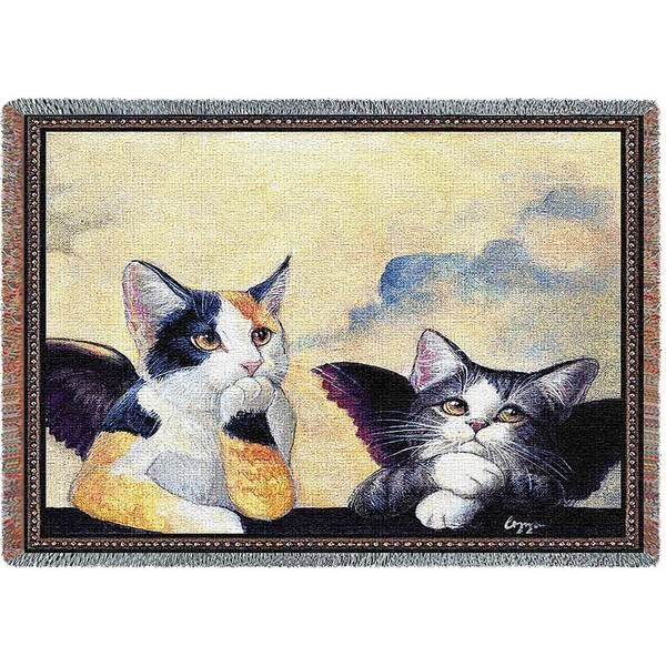 Cherub Cats | Afghan Blanket | 70 x 54 - Cat Gifts for People