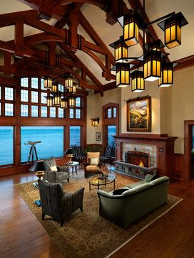 Craftsman Lake Houses Design Ideas, Pictures, Remodel and Decor -- Mike Knight Construction