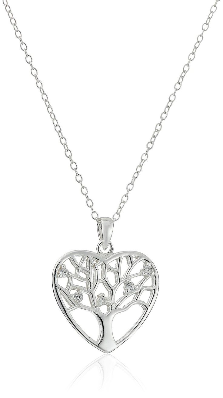 Sterling Silver Filigree Tree of Life Heart Pendant Necklace, 18' ** For more information, visit image link. (This is an Amazon Affiliate link and I receive a commission for the sales)