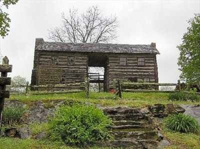Dog Trot Log Cabin Bluff City Tn Historic Dog Trot Log