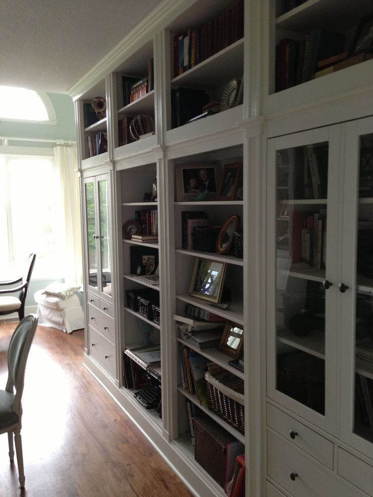Ikea Home Office Library Ideas: Our Hemnes Ikea Hack. Another View.
