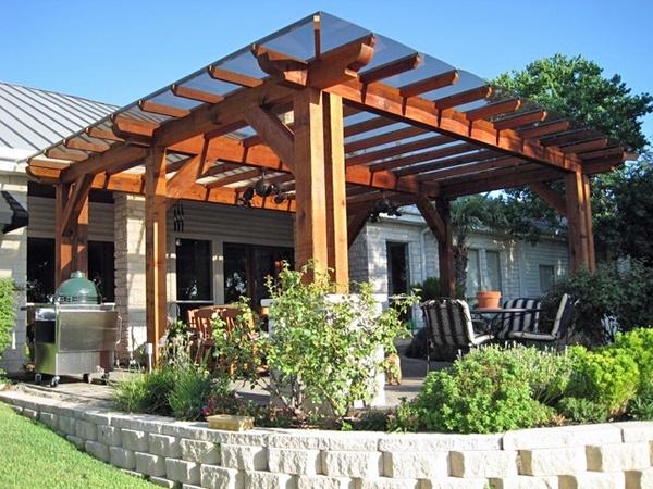 Covered patio trellis