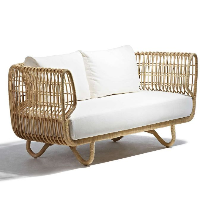 Nest Sofa By Cane Line Unique And Modern The Nest Sofa Boasts An Uncommon Design That Combines A Contempora Used Outdoor Furniture Furniture Sofa Furniture