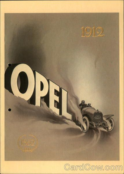 Opel 1912 Advertising Poster Adam Opel AG Advertising Reproductions  #opel #reklame